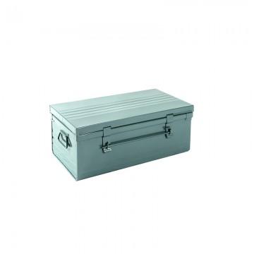 Malle cantine métallique 61 litres gris