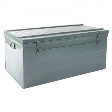 Malle cantine métallique 340 litres gris