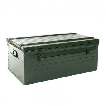 Malle cantine métallique 82 litres vert