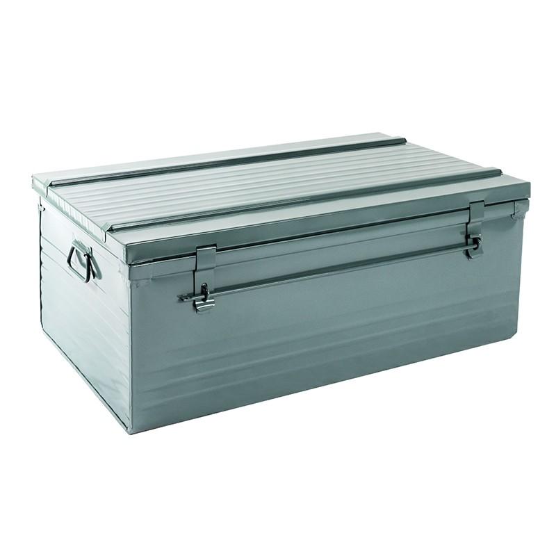 Malle cantine métallique 170 litres gris