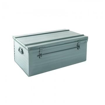 Malle cantine métallique 193 litres gris