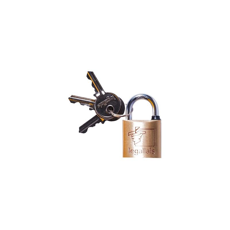 Cadenas à clé pour malle cantine métallique