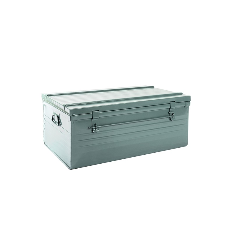 Malle cantine métallique 150 litres gris